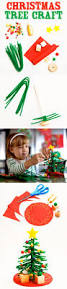 easy christmas tree craft project for kids using pipe cleaners and