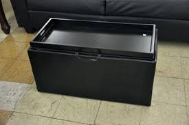 ottoman storage ottoman with tray and wheels bonded leather