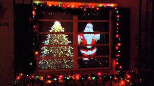 christmas window santa a video projection display youtube