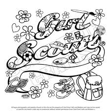 scout brownie coloring pages youtuf com