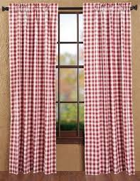Pink Tartan Curtains Buffalo Check Panel Curtains 84 Primitive Quilt Shop