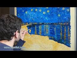 Starry Night Nuit Etoilee Very - art reproduction van gogh starry night over the rhone hand