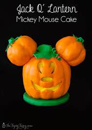 jack o lantern mickey mouse cake ashlee marie