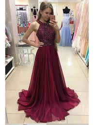 evening gowns line burgundy beaded chiffon prom dresses party evening gowns 99602244