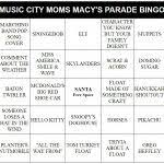 macy s thanksgiving day parade bingo i winter but