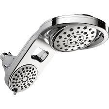 Lowes Shower Head Shop Delta Hydrorain Chrome 5 Spray Rain At Lowes Com