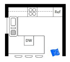 Galley Kitchen Width - kitchen winsome u shaped kitchen floor plans kitchens with