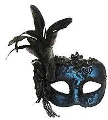 mask for masquerade blue side feather masquerade masked venetian eye mask