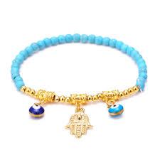 glass beads bracelet images Glass beads bracelet femme men turkish jewelry gold charm jpg