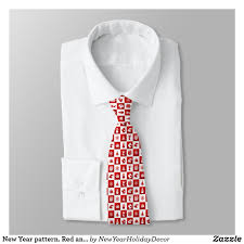 new years ties new year pattern and white 2018 tie pattern 2018 newyear