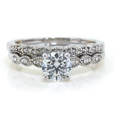 dainty engagement rings dainty moissanite engagement ring diamond wedding band