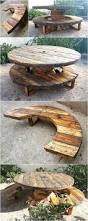 recycled pallets cable reel patio furniture idea wood pallet