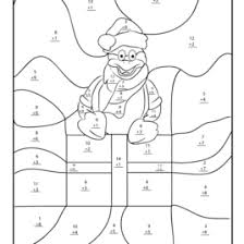 free christmas color by number multiplication worksheets christmas