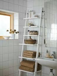 Bathroom Ladder Shelves Bookshelf Astounding Leaning Ladder Shelf Ikea Sauder Bookcase