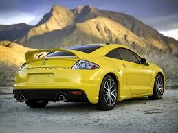 mitsubishi yellow gambar mobil mitsubishi eclipse yellow