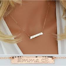 Gold Name Bar Necklace Shop Name Gold Bar Necklace On Wanelo