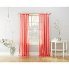 Coral Sheer Curtains Rugs Curtains Wonderful Panel Coral Sheer Curtains For