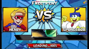 spongebob squarepants vs henry hart as kid danger in a nickelodeon