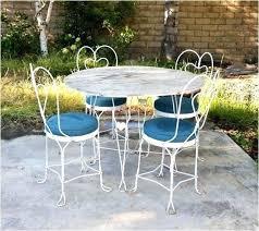 vintage metal outdoor furniture f f vintage white metal garden