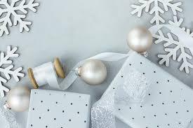 white decoration ornaments frame composition gift boxes