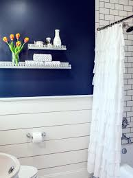 country bathroom photos hgtv bright with navy accent wall white