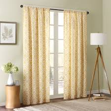 amazon com delray diamond window curtain yellow 84