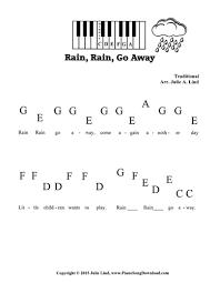 go away pre staff piano sheet for preschoolers