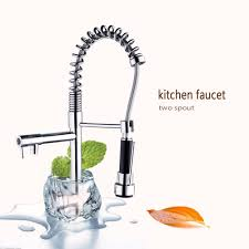 online get cheap kitchen sinks faucet aliexpress com alibaba group 360 swivel kitchen sink faucet polish chrome brass deck mounted tap stream pull out spout contemporary