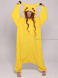 Pikachu Costume Pokemon Pikachu Onesie Kigurumi Pajama Fancy Costume Mall