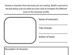 year 3 literacy hw character profile template by rfernley