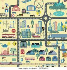 city map great city map element creator seamless stock vector 326134307