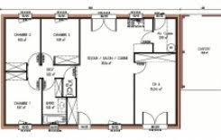 plan maison 4 chambre plan et photos maison 4 chambres de 63 m