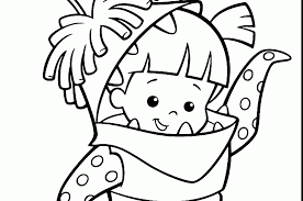 coloring page monsters inc monsters university coloring pages for kids mike sulley and monster