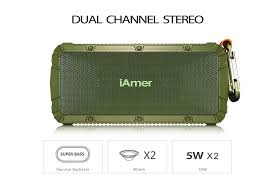 amazon com bluetooth speakers iamer 10w waterproof ipx6 outdoor