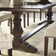 bench made harvest table by bassett american home furniture