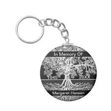 In Memory Of Keychains Funeral Keychains Zazzle