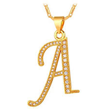 girls gold necklace images Letter necklace teen girls women 18k stamp chain gold jpg