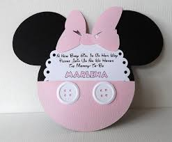 minnie mouse baby shower invitations baby mickey and minnie baby shower invitations 1st birthday