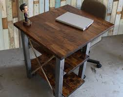 Small Desk With Shelves by Small Desk Etsy