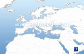 Map Of Europe Countries Map Of European Countries In Photoshop Layers