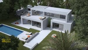 design villa l0285 new constuction modern design villa decorated with