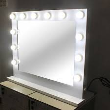 Beauty Vanity With Lights Chende White Hollywood Lighted Makeup Mirror Ebay