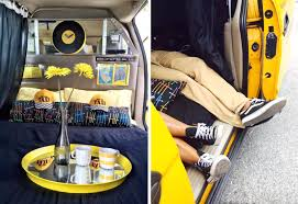 sleep in a cozy converted taxi in long island city for just 39 a
