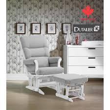 Rocking Chair Dutailier Dutailier Livia Glider And Ottoman Light Gray