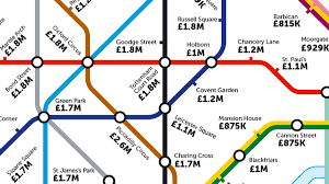 Uk Time Zone Map by Tube Map Shows Average House Prices Across London The Week Uk