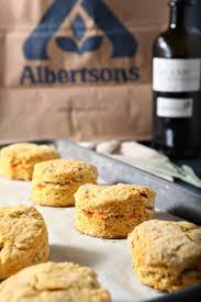 vegan sweet potato olive biscuits for the fall months