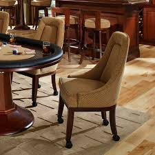 Poker Dining Room Table Chairs W Swivel Base U0026 Custom Leather Lindgren Collection