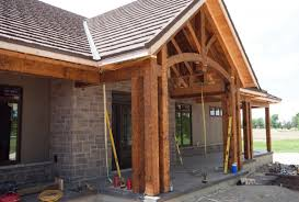 timber frame front porch plans