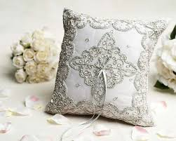 wedding pillow rings beautiful silver woven ring pillow wedding collectibles