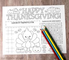free printable thanksgiving activity page artsy fartsy